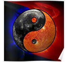 Sun & Moon as Yin/Yang Poster
