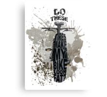 Fat bikers unite! Metal Print