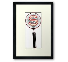 Serial Magnifying Glass Framed Print