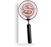 Serial Magnifying Glass Canvas Print