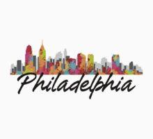 Philadelphia Pennsylvania Skyline Kids Clothes