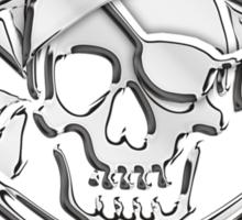 Chrome Nautical Pirate Crossbones Sticker