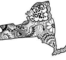 Hipster New York State Outline by alexavec