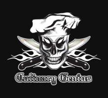 Chef Skull 4: Culinary Genius 3 white flames by sdesiata
