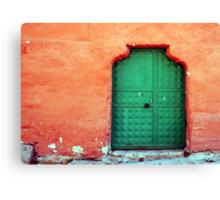 Door In Orange Canvas Print