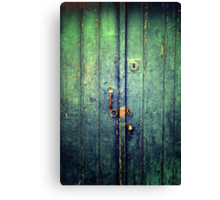 Blue Door In Avanos Canvas Print