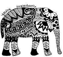 You're Irrelephant Photographic Print