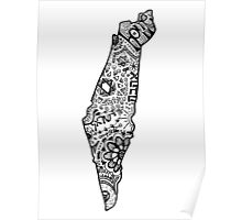 Israel Zentangle Poster