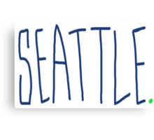 Seattle - City Scroll Canvas Print