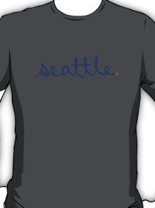 Seattle Cursive - City Scroll T-Shirt