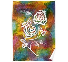 White Roses - A statement piece Poster