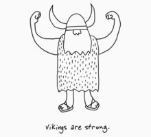 Vikings are strong black and white drawing by DiabolickalPLAN