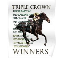 Triple Crown Winners Poster