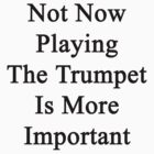Not Now Playing The Trumpet Is More Important  by supernova23
