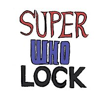 Superwholock Title Phone Case | #InfiniteTARDISMerch by infinite-tardis