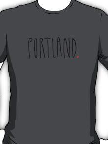 Portland - City Scroll T-Shirt