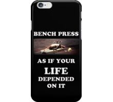 Bench Press - dark shirts iPhone Case/Skin