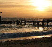 Tranquil winter sunset by Katie Allen