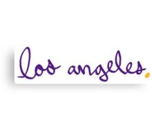 Los Angeles LAL Cursive - City Scroll Canvas Print