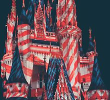 candy cane cinderella castle. by Diana Kelly
