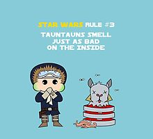 Star Wars Rule #3 (WHITE TEXT) by Geekster23