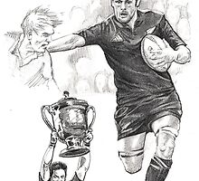 Richie McCaw - New Zealand All Blacks captain by Alleycatsgarden