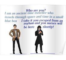 sherlock and the mad with the blue box Poster