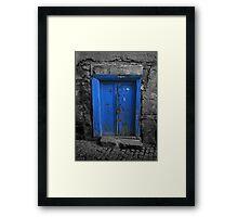 Blue Door In The Castle Framed Print