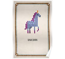 Pixel RPG - Unicorn Poster