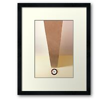 Exclamation point Framed Print