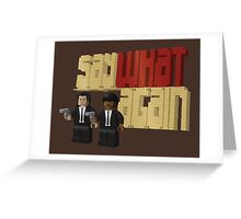 Pulp Bricktion Greeting Card