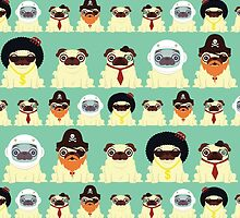 Pug pattern by Scott Weston