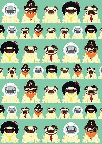 Pug pattern by Scott Weston