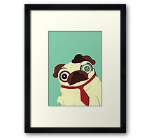 Pug in a Hat Framed Print
