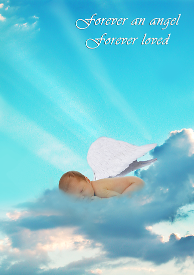 Forever an Angel Sympathy Card by Deanna Roy