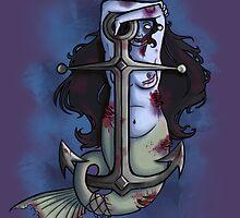 Zombie mermaid  by hoshi-kou
