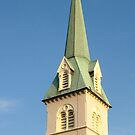 Steeple of St. George's Episcopal Church in Fredericksburg, Virginia by John Ayo