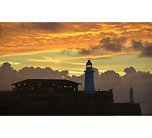 Dover Lighthouses At Dawn Photographic Print