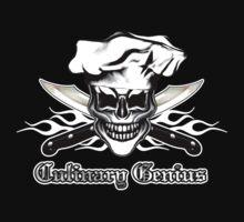 Chef Skull 6: Culinary Genius 3 white flames by sdesiata