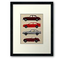 The Car's The Star: UK Detectives Framed Print