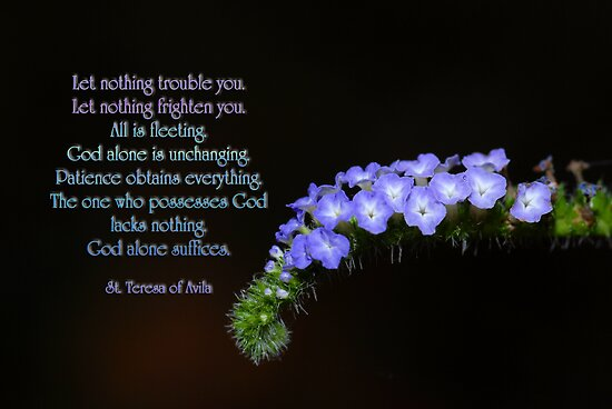 Let nothing trouble you . . . let nothing frighten you . . . by Bonnie T.  Barry
