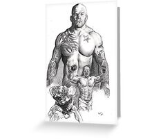 Jeff Monson - the snowman Greeting Card