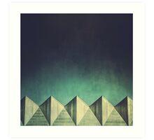 Urban Geometric Landscape Skyline Art Print