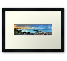 Mauritius Jetty Sunset Framed Print