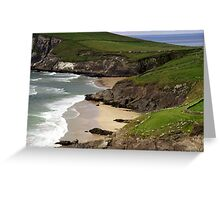 The sandy beach at Couminole Greeting Card