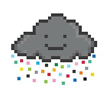 Your Friendly Pixel Cloud Sprinkling pixels for you and me by VECTORDOWNPOUR