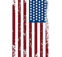 Hops and Stripes U.S. Flag by Neal Wollenberg