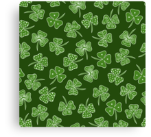 shamrocks Canvas Print