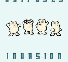 Adiposes Invasion - Cute Nerdy Doctor Who by peetamark