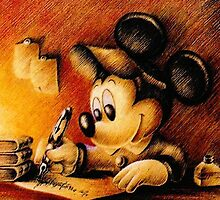 Mickey Mouse Drawing - Disney by peetamark